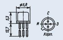 Транзистор 2П303В (Ni)
