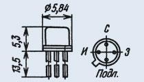 Транзистор 2П307Г (Ni)