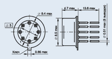 микросхема 521СА301
