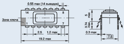 микросхема 530КП14 ММ