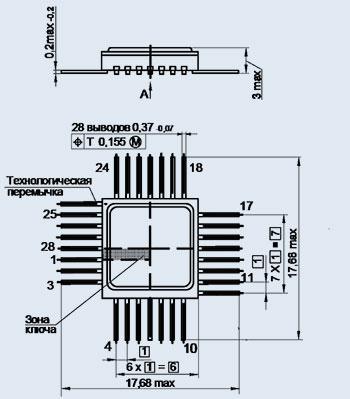микросхема 564ЛП2 ВК (Ni)