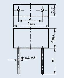 Конденсатор К10-47В-500В-Н30-3300пф+/-20% N