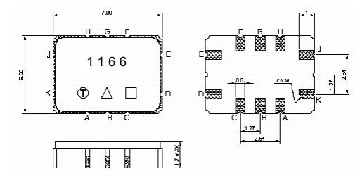 Габаритные размеры TB1166A