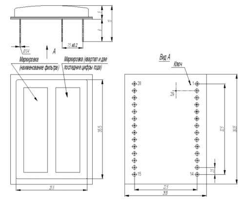 Размеры ПЭФ ФП3П7-507-1