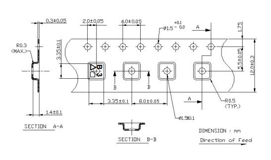 Размеры ленты фильтра TA1391A
